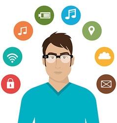 Wearable Technology digital design vector