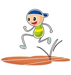 A sketch of a boy running vector image vector image