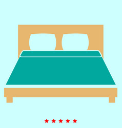 bed it is icon vector image vector image