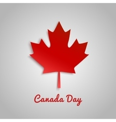 Design a banner for Canada Day 1 st of July vector image