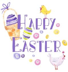 Easter design elements watercolor vector
