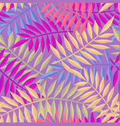 tropical summer jungle palm tree leaf background vector image vector image