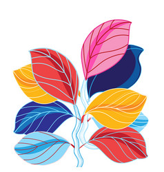 a beautiful colored leaves vector image vector image