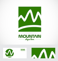 Abstract mountain logo vector image vector image