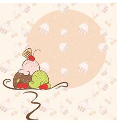 abstract summer ice cream invitation card on seaml vector image