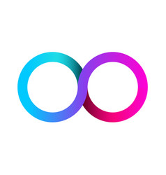 colorful infinity business logo eternity concept vector image vector image