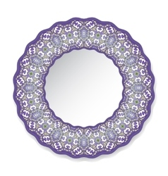 decorative plate with circular pattern vector image vector image