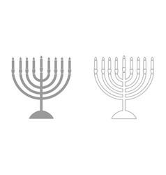 menorah for hanukkah it is icon vector image