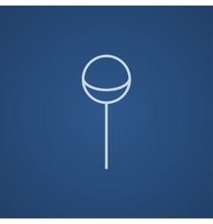 Round lollipop line icon vector image vector image