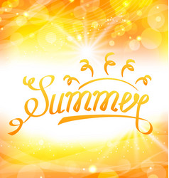 summer abstract background with text lettering vector image