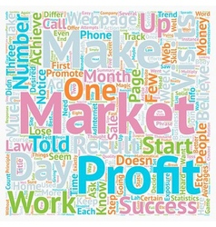 The Law of Averages text background wordcloud vector image