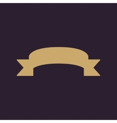The ribbon icon banner symbol flat vector