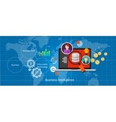 Business intelligence database analysis vector
