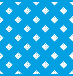 cheese fresh block pattern seamless blue vector image vector image