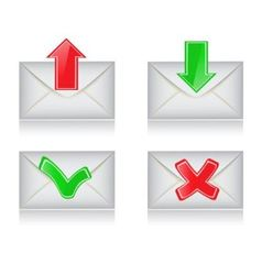 envelopes with the arrows and signs vector image vector image