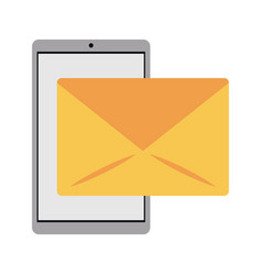 smartphone email message mail vector image vector image