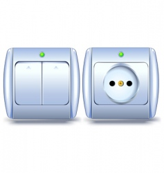switch and socket vector image vector image