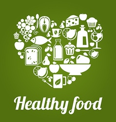 HealthyFoodL vector image vector image