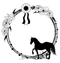 horse frame vector image
