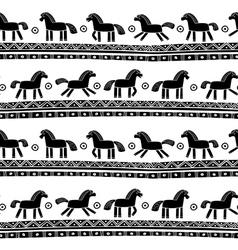 Horse seamless pattern vector