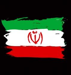 Iran grunge flag vector image vector image