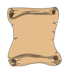 old scroll drawing by hand vector image