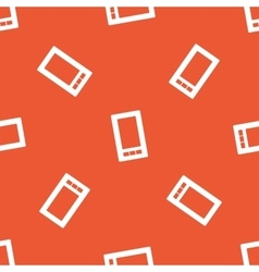 Orange smartphone pattern vector image