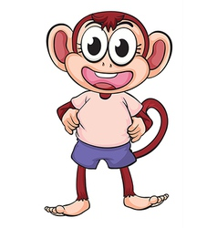 smiling monkey vector image vector image