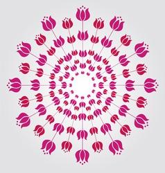 Tulip mandala vector image