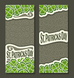 vertical banner for st patricks day vector image vector image