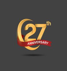27 anniversary design logotype golden color vector