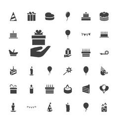 33 birthday icons vector