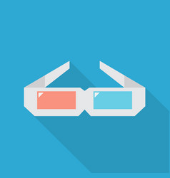 3d glasses icon set of great flat icons with vector