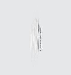 3d white vertical paint brush stroke vector