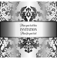 Abstract background with luxury gray and metal vector