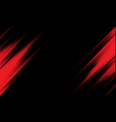 Abstract red light speed dynamic on black vector