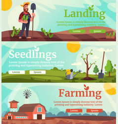 agricultural business flat landing page vector image