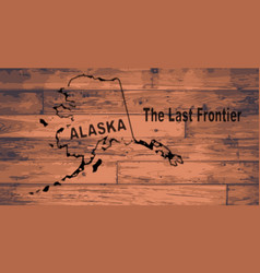 Alaska map brand vector