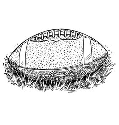 American football ball hand drawing vector