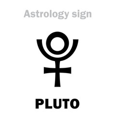 Astrology planet pluto vector
