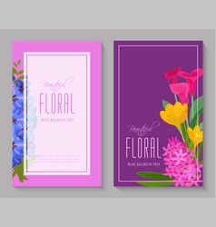 beautiful floral background for flower shops or vector image