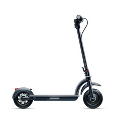 black scooter urban vector image