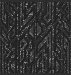 black stone geometric pattern vector image