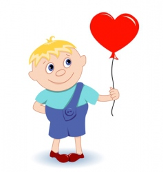 boy with heartballoon vector image