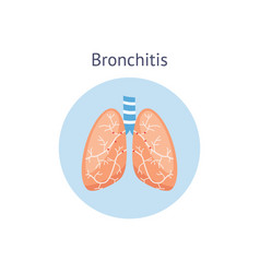 Bronchitis a lung disease medical anatomical vector