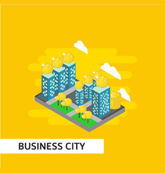 Business city isometric template design vector