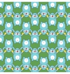 Cartoon yeti seamless pattern vector image