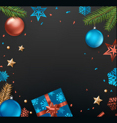 christmas eve concept top view vertical vector image