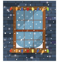 Christmas Window vector