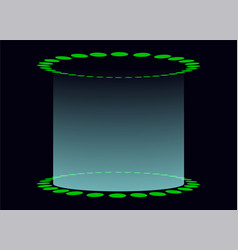 circular base with light shining upwards display vector image